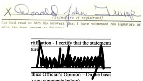 donald trump signature donald trump s signature then and now 1964 2015
