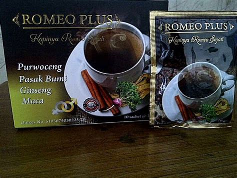 Kopi Kesehatan Dan Stamina jual kopi romeo plus untuk stamina dan vitalitas pria kemasan sachet gardeniashop