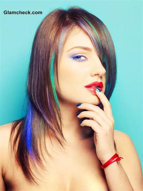 peacock inspired hair color
