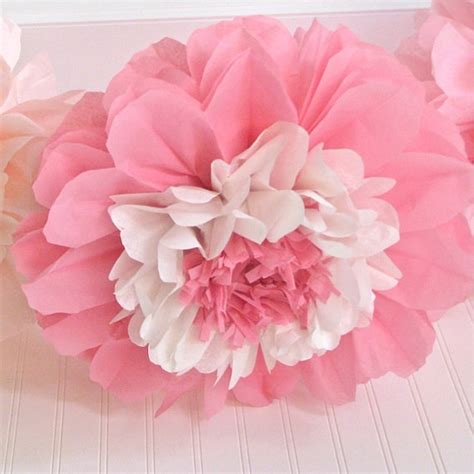 Flowers From Tissue Paper - 12 tissue paper flower blooms you colors