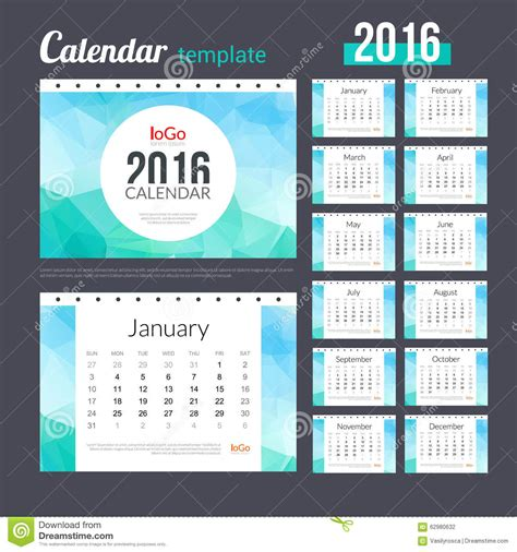 design table calendar 2016 desk calendar 2016 design template with triangular stock