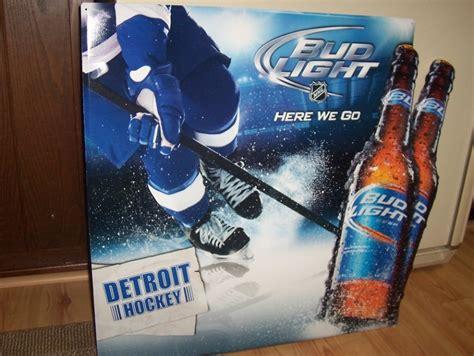bud light tin signs bud light detroit hockey red wings sign