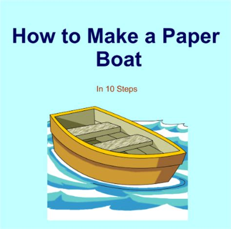 How To Make A Paper Boat That Floats On Water - smart exchange usa how to make a paper boat