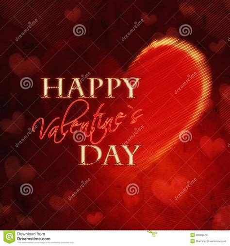 happy valentines day in retro card stock images
