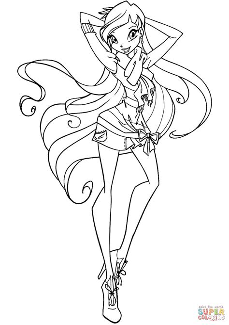 winx club coloring pages stella kids coloring europe
