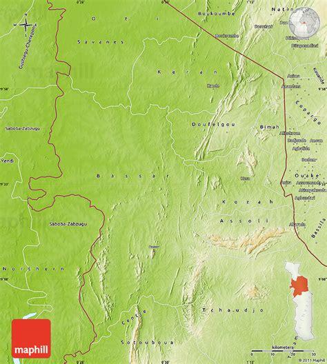 physical map of togo physical map of kara