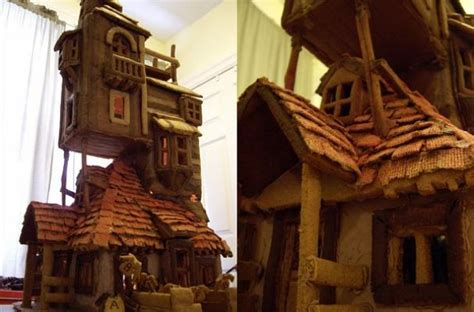 the weasley house foodista the weasley s burrow gingerbread house is a carefully constructed masterpiece