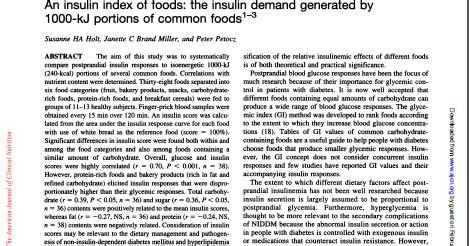 indice insulinico degli alimenti nutrizione scientifica moderna l indice insulinico degli