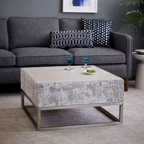 concrete top end table concrete chrome coffee table elm