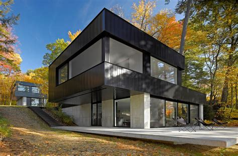 inspiring modern refuge in vermont cantilever lake house