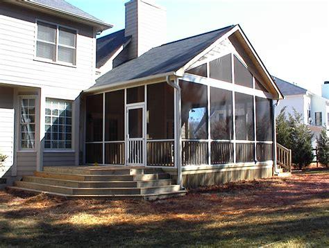 Gable Roof Addition Design Huntersville Screen Porch Sunroom Room