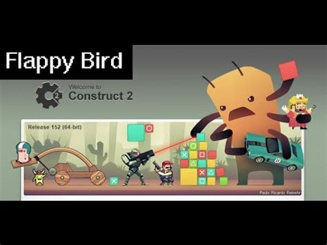 flappy bird tutorial construct 2 let s make games tutorial 3 flappy bird youtube