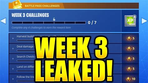 fortnite week 3 challenges fortnite season 5 week 3 challenges leaked week 3 all