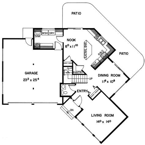 i shaped house plans v shaped home floor plans