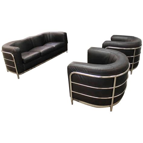 1980s furniture zanotta 1980s three piece living room suite pair of