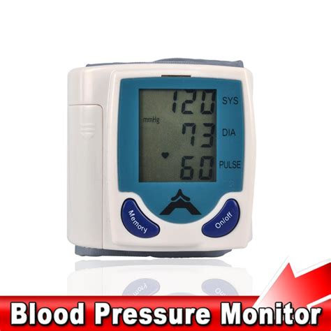 2016 home digital lcd arm wrist blood pressure monitor