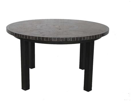 round stone dining sunvilla pennant aluminum 54 round stone top dining table