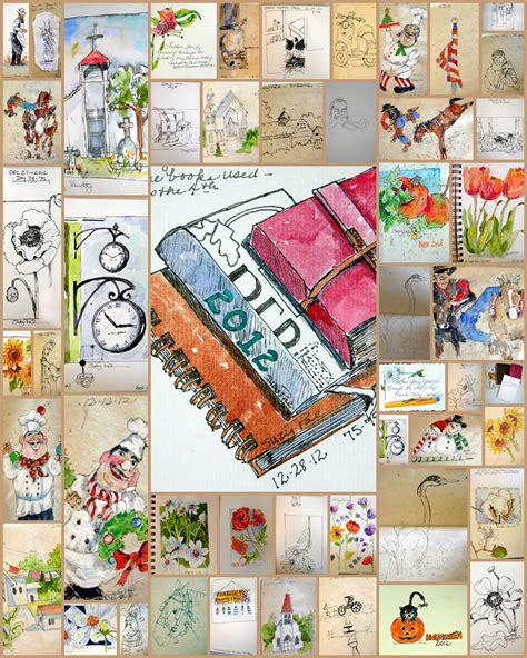 sketchbook whimsy collage size books suzy pal powell watercolors and collages collages of