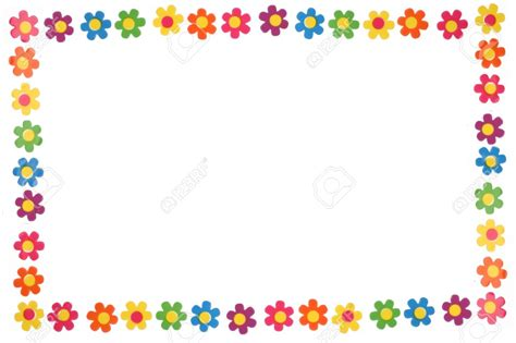 colorful borders colorful flower border and frame stock photo frames