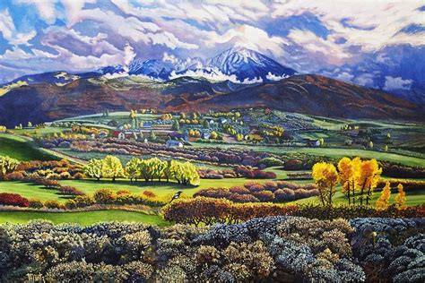 painting montana mt sopris painting by alan mintz