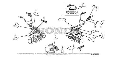 honda rototiller parts honda f220 tiller parts diagram yard machines tiller parts