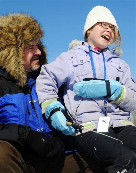 mcnally boat landing winona an ice day to go fishing local winonadailynews