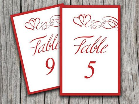 table number cards template word 1000 images about weddings on menu