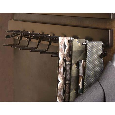 Closet Belt Rack by Deluxe Sliding Tie Rack Rubbed Bronze In Tie And Belt Racks
