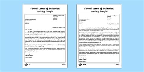 Invitation Letter In Zulu Formal Letter Of Invitation Writing Sle Esl Writing A