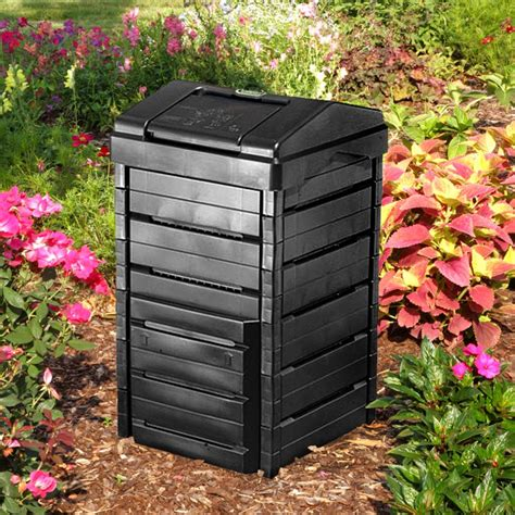 backyard composting bin garden gourmet 82 gallon recycled plastic compost bin composting bins at hayneedle