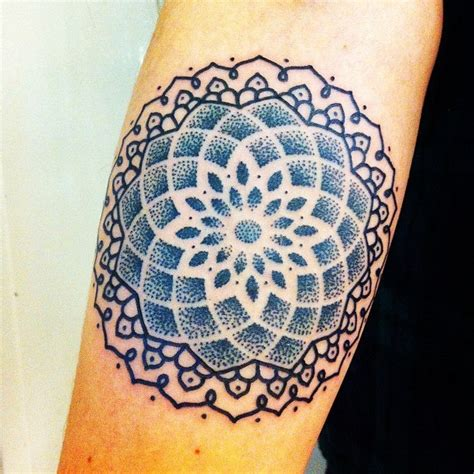 mandala tattoo sacred geometry mandala dots tattoo idea pinterest ink color blue