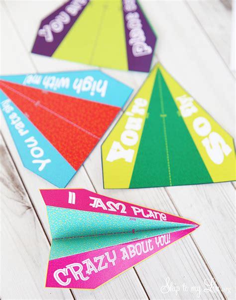 printable valentine paper airplane printable airplane valentines skip to my lou