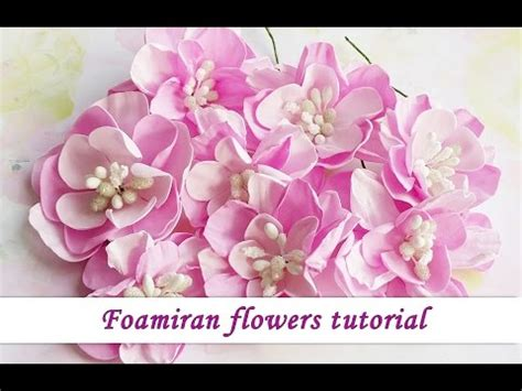 Handcrafted Flowers Make - foamiran handmade flowers tutorial by ola khomenok
