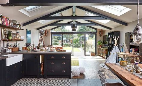 real home  industrial style kitchen extension