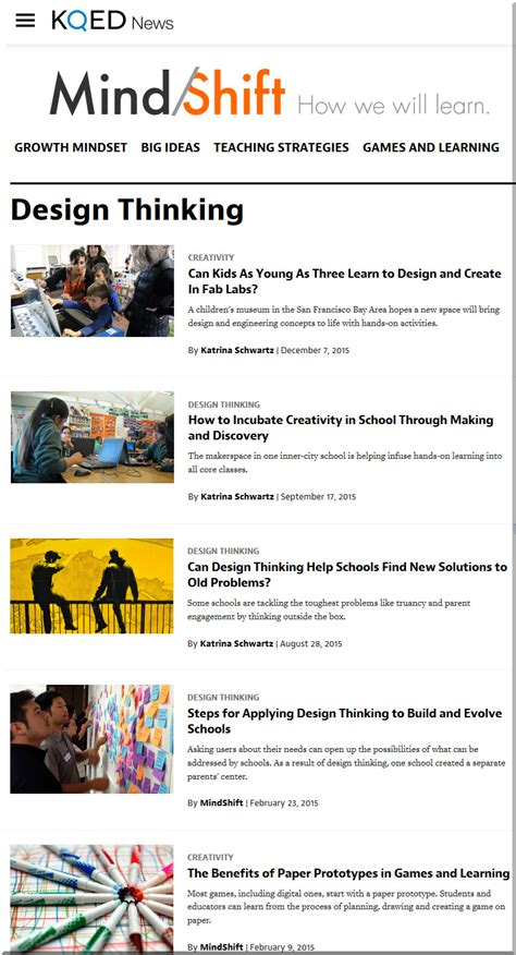 design thinking resources 6 items resources re design thinking