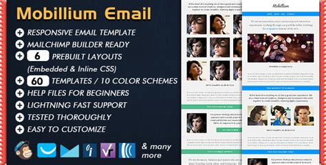 Mobillium Responsive Email Newsletter By Bedros Themeforest Responsive Email Template Themeforest