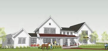 New Farmhouse Plans Ron Brenner Architects New Modern Farmhouse Design Completed