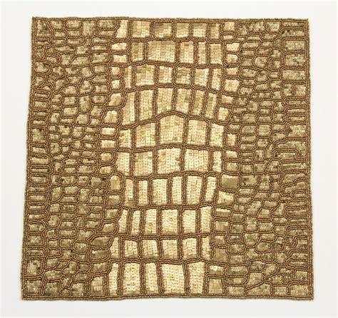 best placemats kim seybert beaded placemat crocodile gold color best