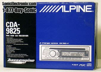 ls plus open box coupon refurbished alpine cda 9825 rb ls cda9825 rb