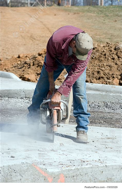 Construction Worker Cutting Concrete With Power Saw Stock ... Free Clip Art Images Construction