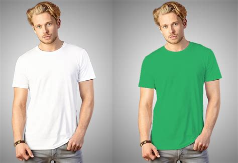 T Shirt White Color how to change white t shirt color in photoshop