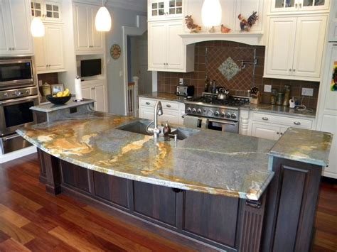 Kitchen Island With Granite Countertop Blue Louise Granite Installed Design Photos And Reviews Granix Inc