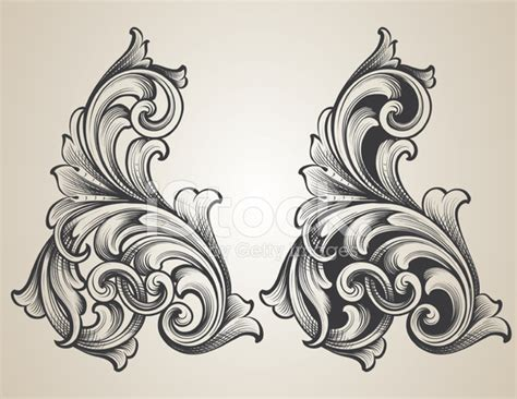 intertwining engraved scrolls stock vector freeimages com