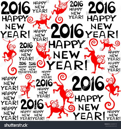new year symbols 2016 2016 happy new year seamless pattern background with