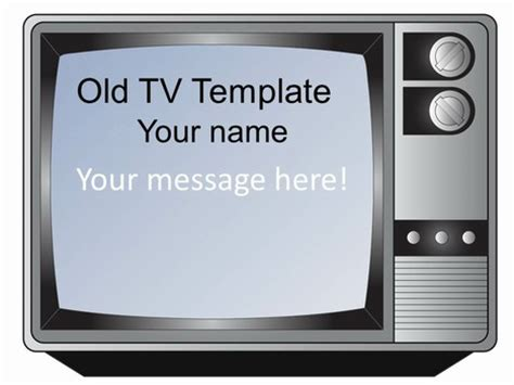 tv show powerpoint templates fashioned television set template