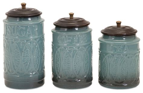kitchen jars and canisters ceramic canisters set of 3 contemporary