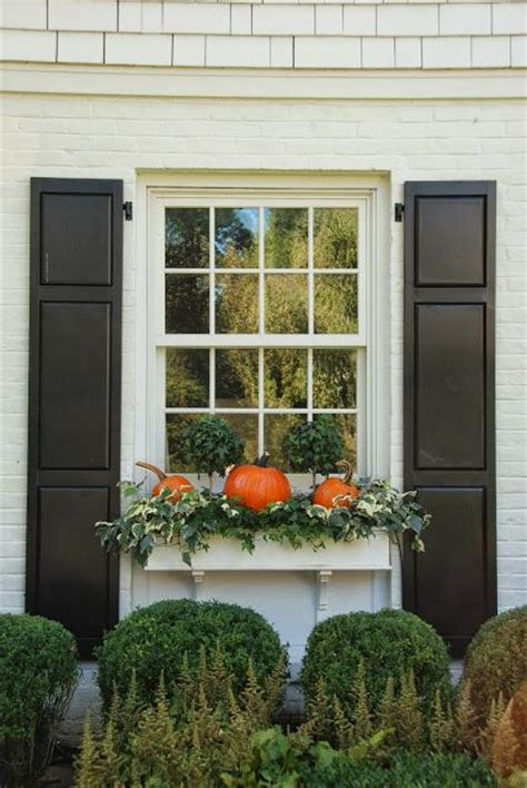 Outdoor Windows Decorating Window Boxes Fall Inspiration Pinterest