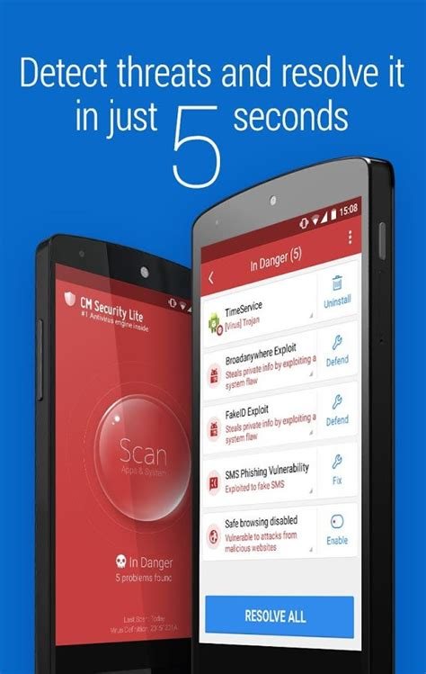 cm antivirus apk cm security lite antivirus 187 apk thing android apps free