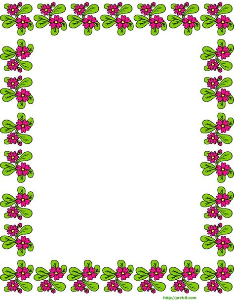 lined paper with spring border free printable spring cute red flowers border writing
