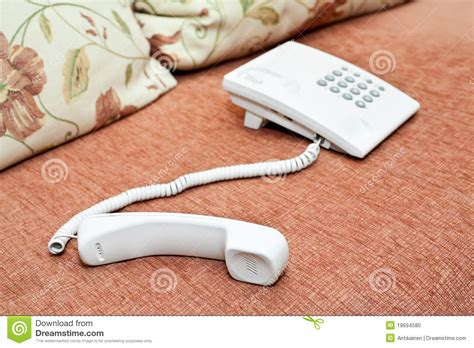 phone couch white telephone on the couch stock photo image 19694580